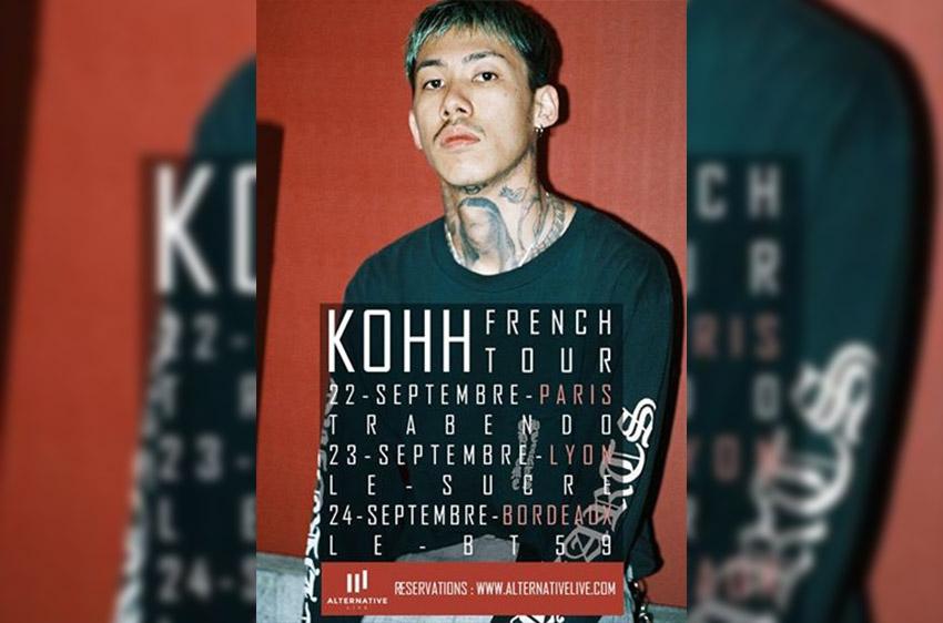 Kohh en concert en france le 22 septembre à Paris