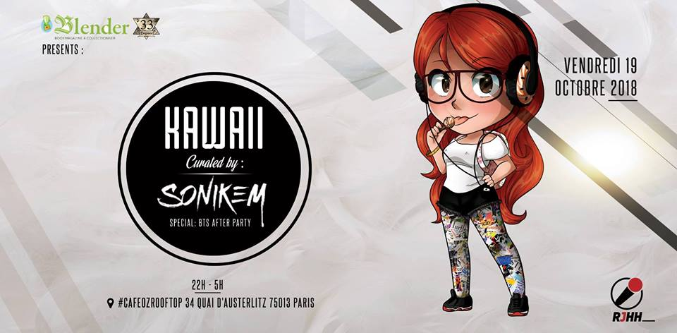 Event 1 : KAWAII curated by SONIKEM au Café Oz Rooftop