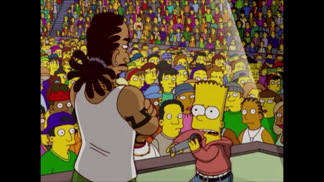 Chop The Onion remix le rappeur CBS sur un clip des Simpson